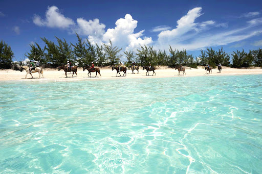Half-Moon-Cay-Bahamas-2 - Horseback riding, hiking and nature walks are as popular as the beaches and snorkeling at Half Moon Cay, one  of about 700 islands that make up the Bahamas.