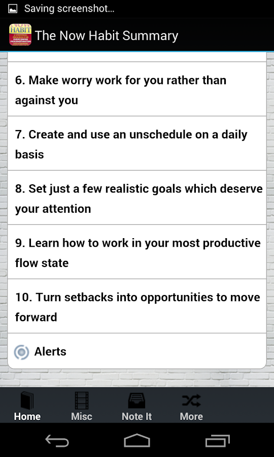 The Now Habit Summary - Neil - screenshot