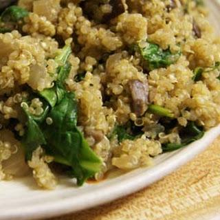 Mushroom & Spinach Quinoa Risotto