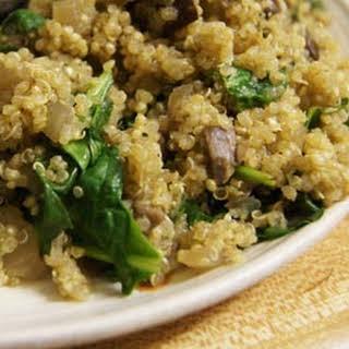 Mushroom & Spinach Quinoa Risotto.