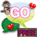GO SMS PRO Cute Monkey theme icon
