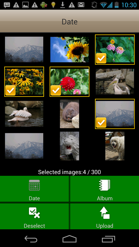 Screenshots of FUJIFILM WPS Photo Transfer for Android