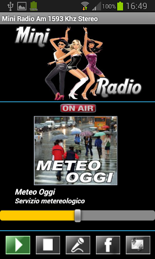 Mini Radio Am 1593 Khz Stereo