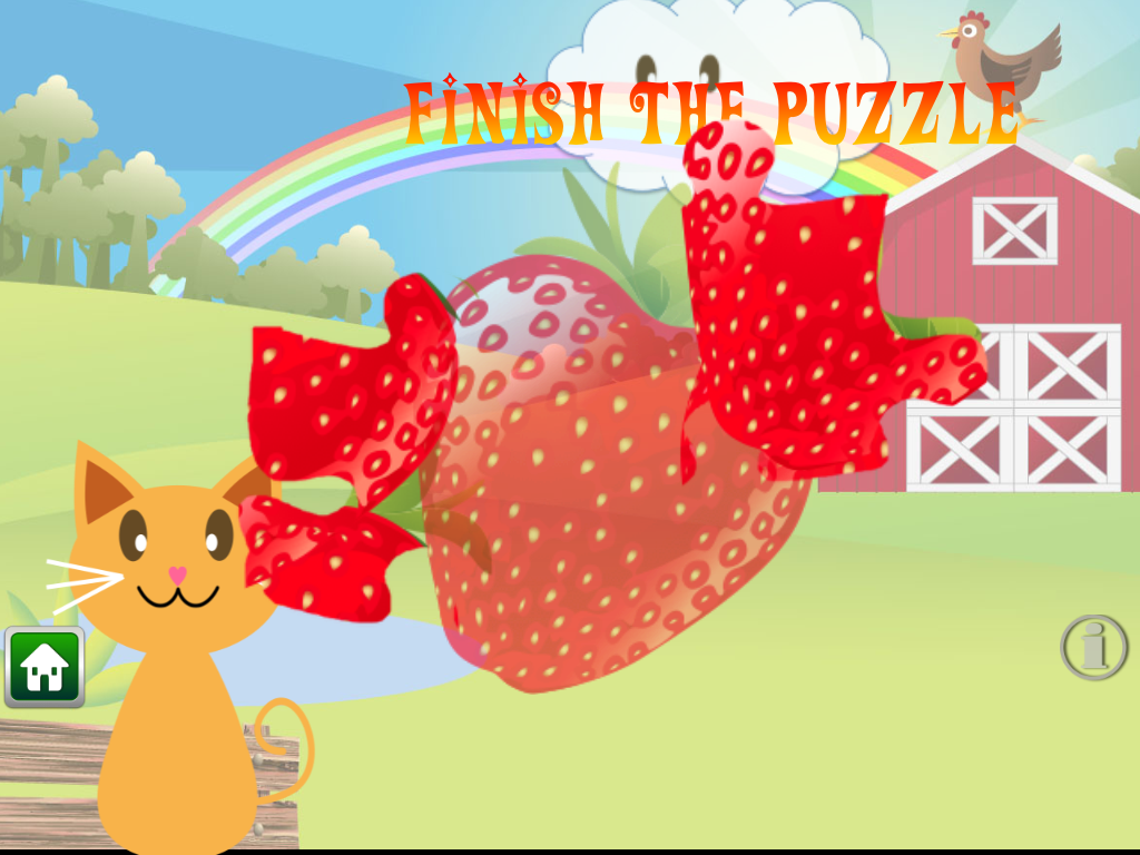 QCat-Toddler's game:Fruit Free - screenshot