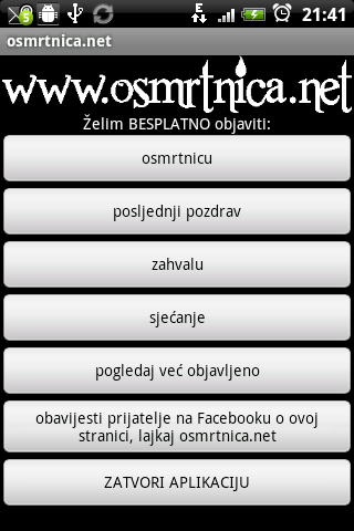osmrtnica.net- screenshot
