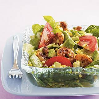 Grilled Southwestern Shrimp Salad with Lime-Cumin Dressing.