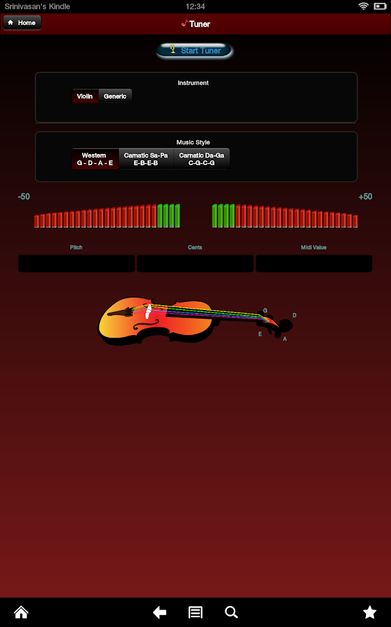 Sheet Music and Tuner - screenshot