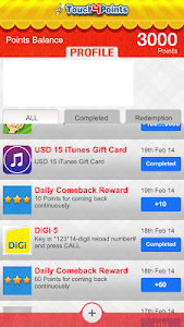 Touch4Points - Gift/Game Cards screenshot 4