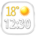 Transparent Weather And Clock icon