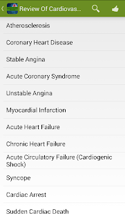 Cardiovascular Diseases screenshot for Android