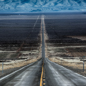 The long and not so winding road in Northern Nevada by Brent Morris - Transportation Roads (  )