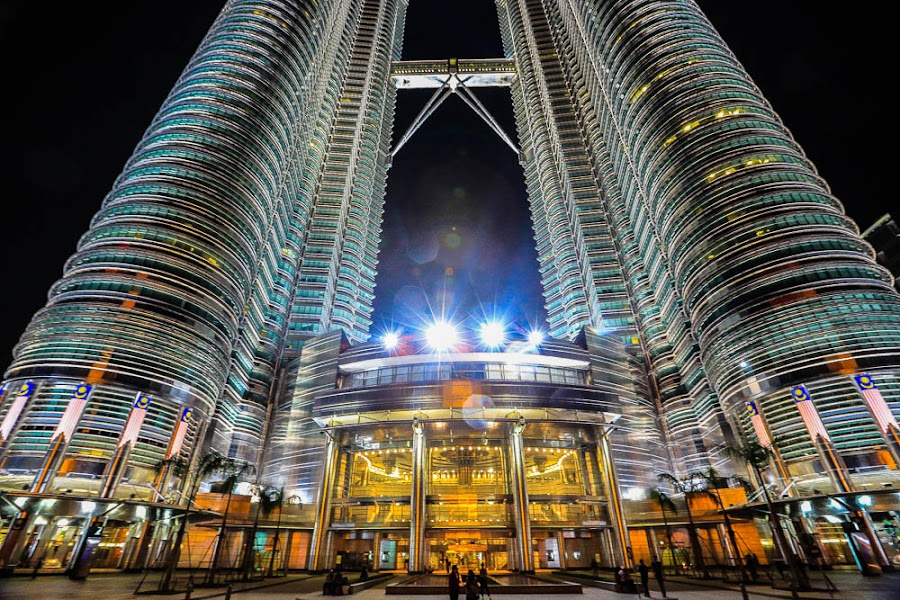 SHOPS UNDER THE TOWERS by Michael Rey - City,  Street & Park  Markets & Shops ( landmark, retail shops, malaysia, cityscape, kuala lumpur )