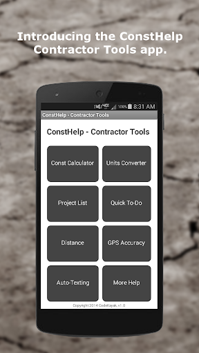 ConstHelp - Contractor Tools
