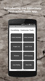 ConstHelp - Contractor Tools- screenshot thumbnail