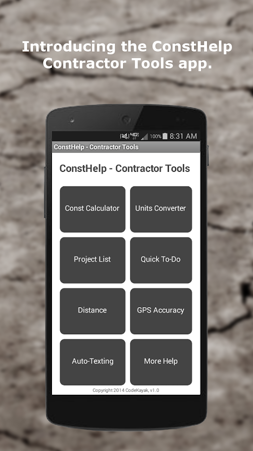 ConstHelp - Contractor Tools- screenshot