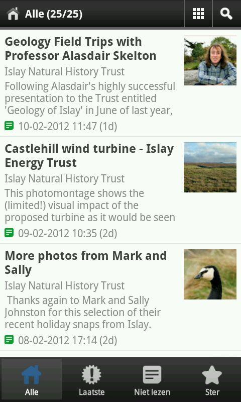 Islay Natural History Trust - screenshot