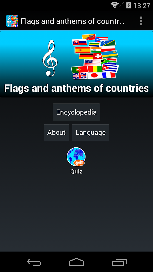Flags and anthems of countries- screenshot