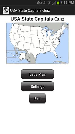USA State Capitals Quiz
