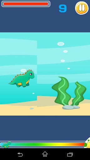 小恐龙游泳