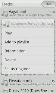 Xplay music player - screenshot thumbnail