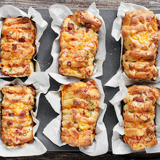 Individual Loaded Baked Potato Pull-apart Bread.