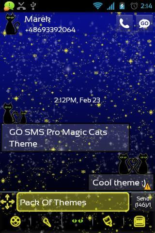 玩免費個人化APP|下載GO短信加强版魔术猫主题 app不用錢|硬是要APP