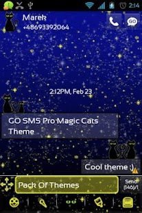 GO SMS Pro Magic Cats Theme - screenshot thumbnail