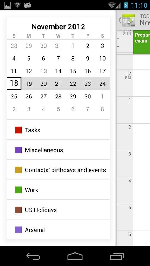 Calendar++ Free - screenshot