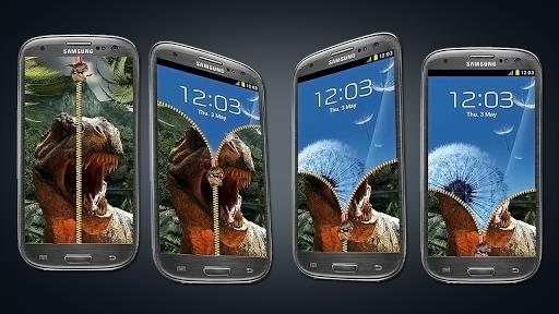 Dinosaur Zipper Screen Lock