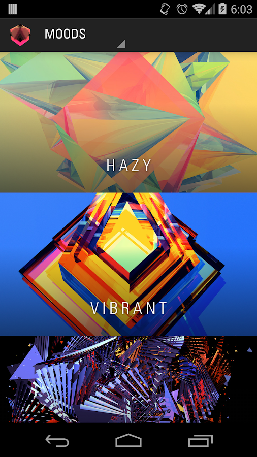 Facets - with Muzei- screenshot