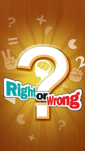 Bạn đang xem bài viết Game Trí Tuệ Right Or Wrong Cho Android