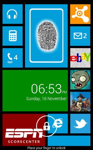 指紋鎖定Windows 8