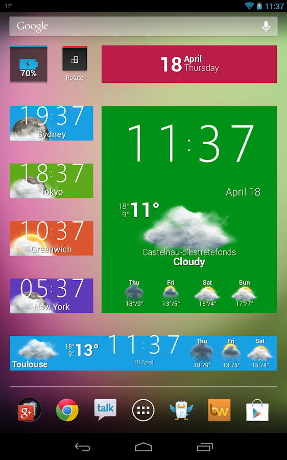 Beautiful Widgets Free - screenshot