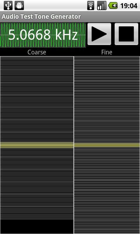 Audio Test Tone Generator – Screenshot