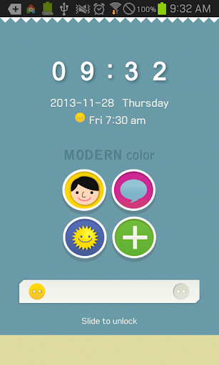 Modern Color go locker theme