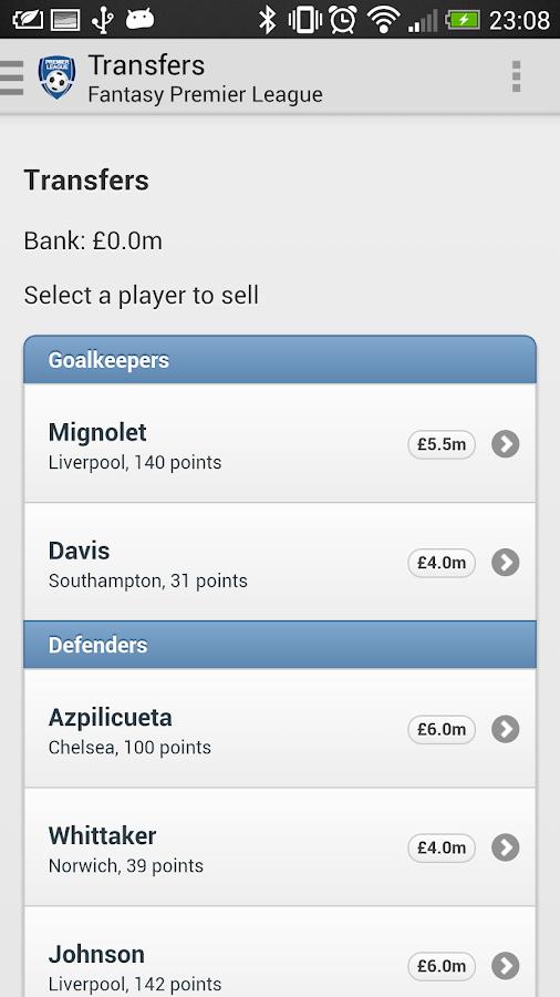 Fantasy Premier League - screenshot