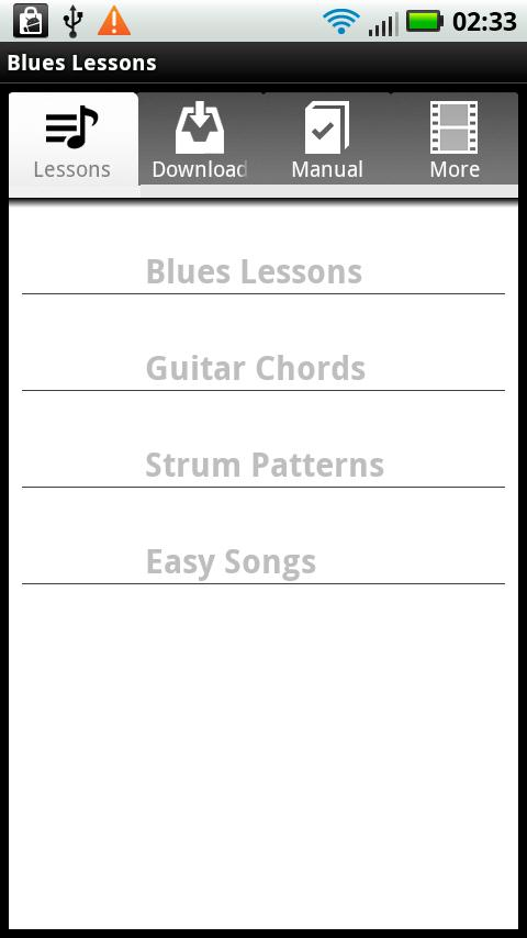 Blues Guitar Lessons - screenshot