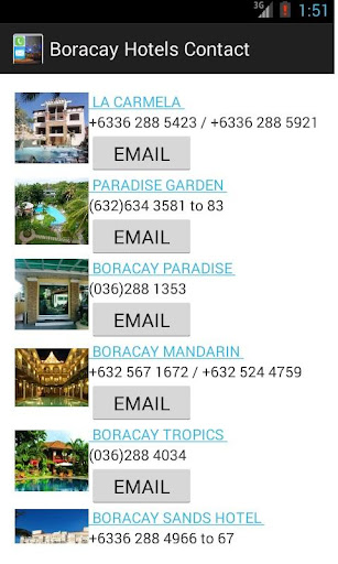 Boracay Hotel Contacts
