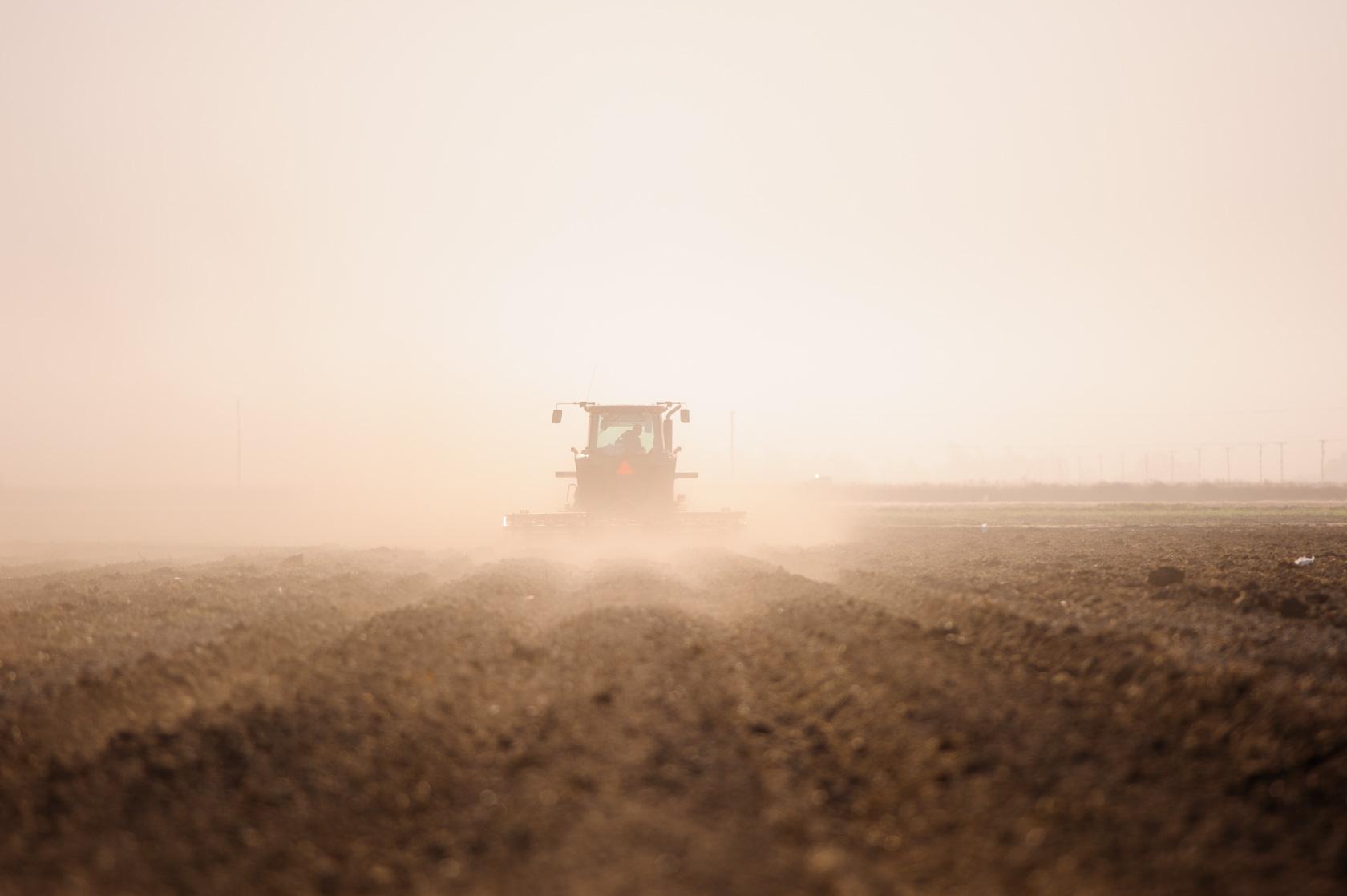 Disking Soil, California