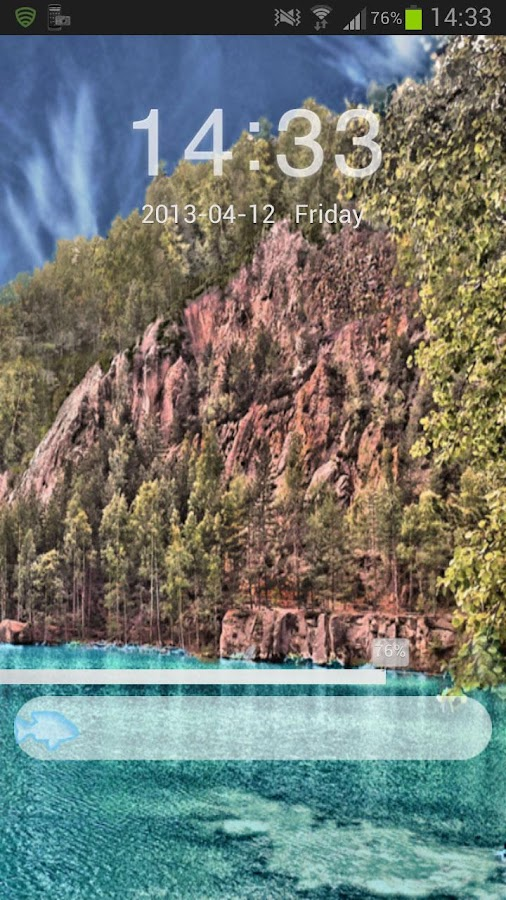 GO Locker Theme lake mountains - screenshot
