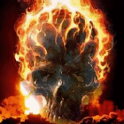 Flaming Skull Live Wallpa icon