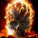 Flaming Skull Live Wallpa icon