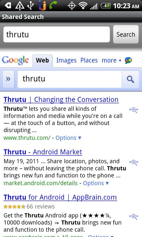 Thrutu Shared Search Plugin - screenshot