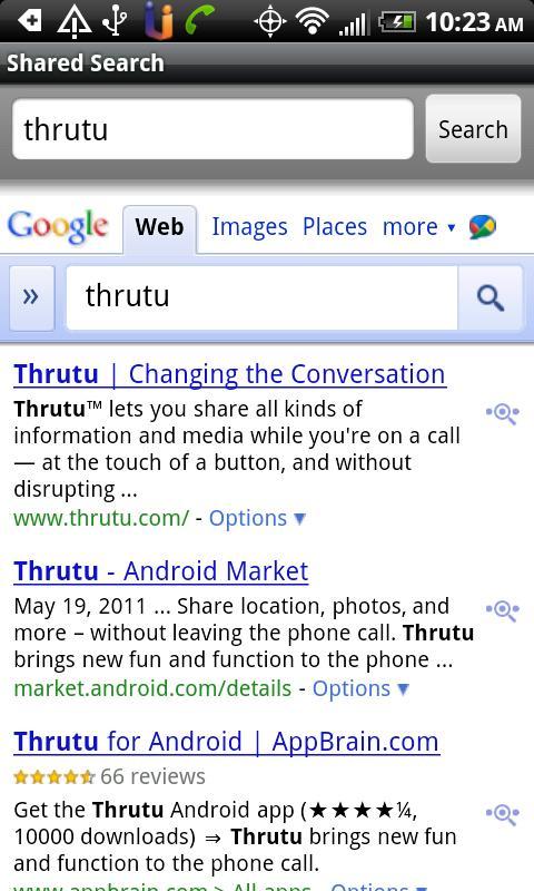 Thrutu Shared Search Plugin- screenshot