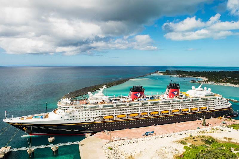 Disney Magic in port in the Caribbean.