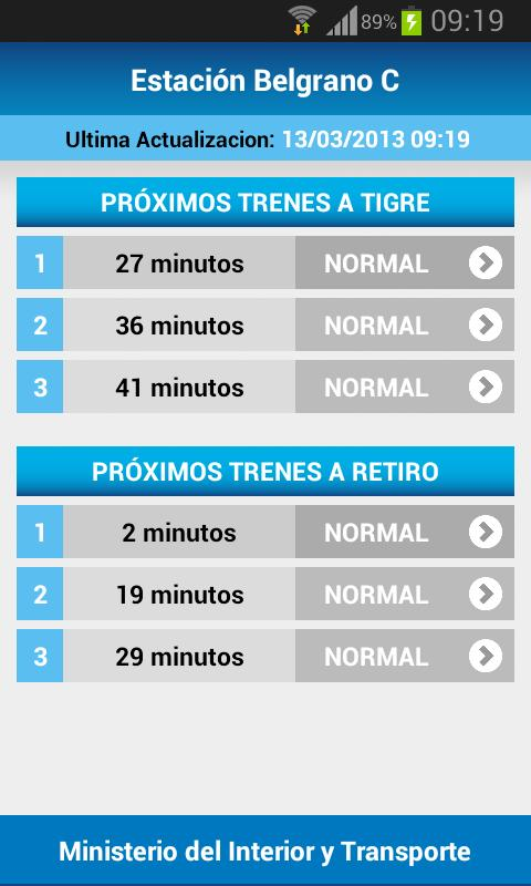 Trenes en Vivo - screenshot