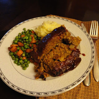 Gluten Free Meatloaf with Homemade BBQ Sauce.