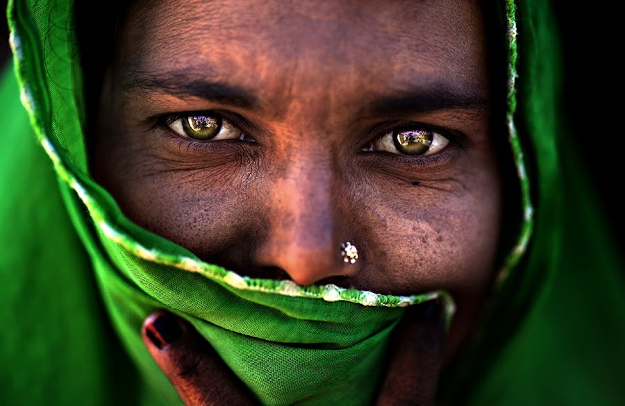 Green by Alessandro Bergamini - People Portraits of Women ( alessandro bergamini pixoto gujarat india,  )