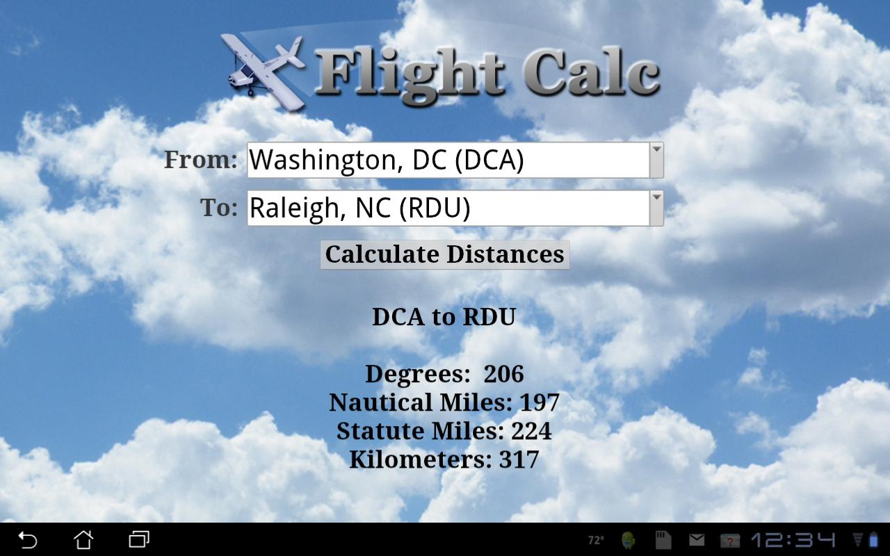 Flight Calc - screenshot