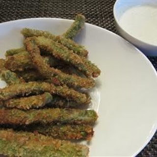 Crispy Green Beans with Horseradish-Wasabi Dip